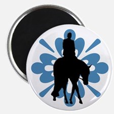 Hunter under saddle flower Magnet