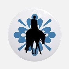 Hunter under saddle flower Ornament (Round)