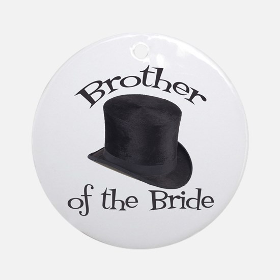 Top Hat Bride's Brother Ornament (Round)