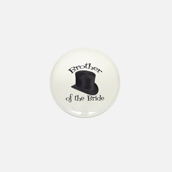 Top Hat Bride's Brother Mini Button
