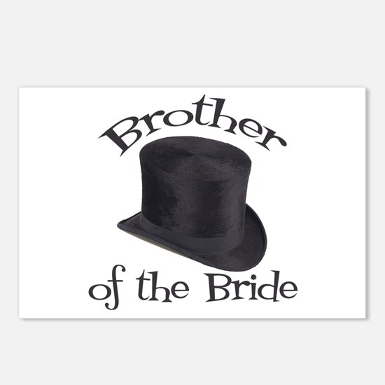 Top Hat Bride's Brother Postcards (Package of 8)