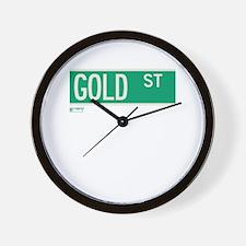 Gold Street in NY Wall Clock