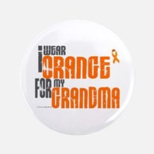 "I Wear Orange For My Grandma 6 3.5"" Button"