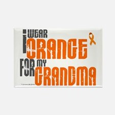 I Wear Orange For My Grandma 6 Rectangle Magnet (1