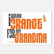 I Wear Orange For My Grandma 6 Postcards (Package