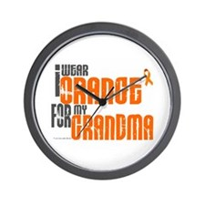 I Wear Orange For My Grandma 6 Wall Clock