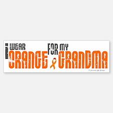 I Wear Orange For My Grandma 6 Bumper Bumper Bumper Sticker