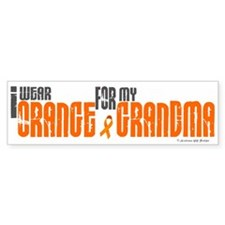 I Wear Orange For My Grandma 6 Bumper Car Sticker
