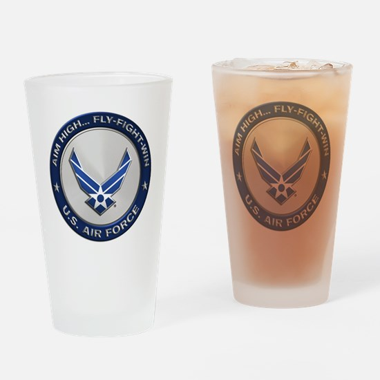 USAF Motto Aim High Drinking Glass