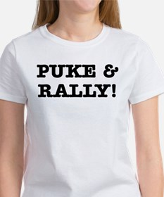 Puke & Rally Quote -Black or Women's T-Shirt