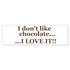 Chocolate Love Bumper Bumper Sticker