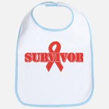 Red Ribbon Survivor Bib
