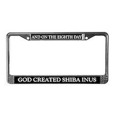 8TH DAY Shiba Inu License Plate Frame
