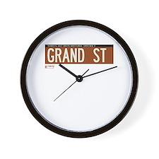 Grand Street in NY Wall Clock
