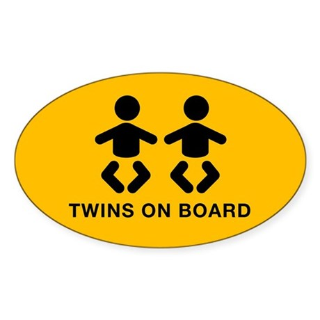 Twins Oval Sticker