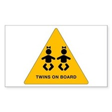 Twins Rectangle Decal