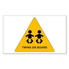 Twins Rectangle Stickers
