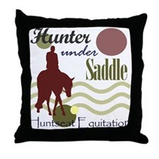 Hunter in maroon Throw Pillow
