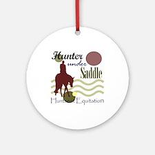 Hunter in maroon Ornament (Round)