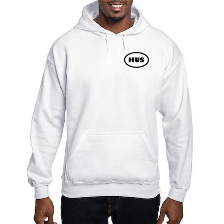Hunter in maroon Hooded Sweatshirt
