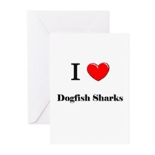 I Love Dogfish Sharks Greeting Cards (Pk of 10)