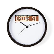 Greene Street in NY Wall Clock