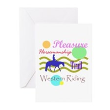 All around western in brights Greeting Cards (Pack
