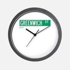 Greenwich Street in NY Wall Clock