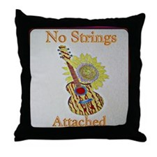 Acoustic Sunflower Throw Pillow