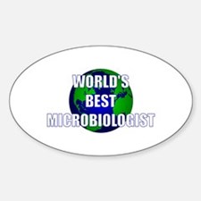 World's Best Microbiologist Oval Decal