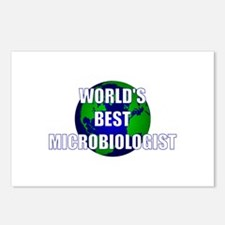 World's Best Microbiologist Postcards (Package of
