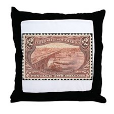 Stamp collectors Throw Pillow