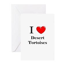I Love Desert Tortoises Greeting Cards (Pk of 10)