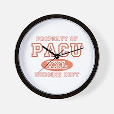 Property Of PACU Nurse Wall Clock