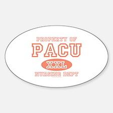 Property Of PACU Nurse Oval Decal