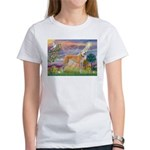 Cloud Angel & Greyound Women's T-Shirt