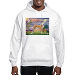 Cloud Angel & Greyound Hooded Sweatshirt
