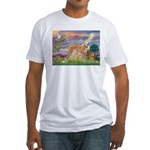 Cloud Angel & Greyound Fitted T-Shirt