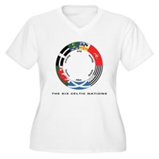 Celtic Nations Women's +Size V-Neck