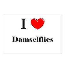 I Love Damselflies Postcards (Package of 8)