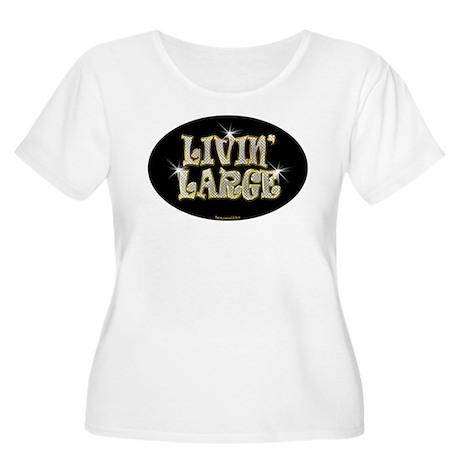 Livin' Large Women's Plus Size Scoop Neck T-Shirt