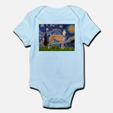 Starry Night & Greyhound Infant Bodysuit