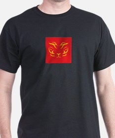 Thai Tiger Yellow on Red T-Shirt