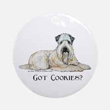 Wheaten Terriers Cookie Dogs Ornament (Round)