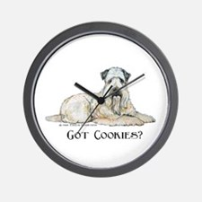 Wheaten Terriers Cookie Dogs Wall Clock