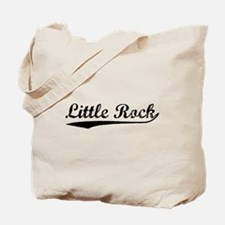 Vintage Little Rock (Black) Tote Bag