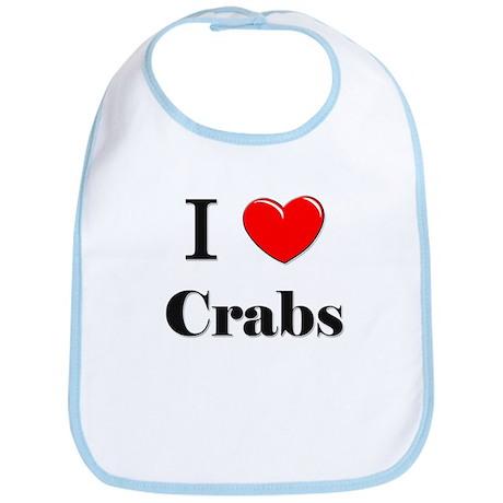 I Love Crabs Bib
