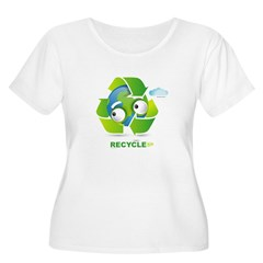 Recycle Women's Plus Size Scoop Neck T-Shirt
