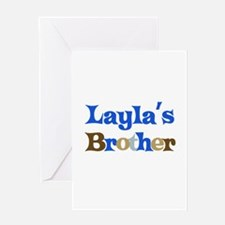 Layla's Brother Greeting Card