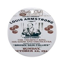 Louis Armstrong Poster Ornament (Round)